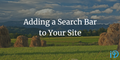 featured image thumbnail for post Adding a Search Bar to Your Site